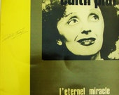 "EDITH PIAF Vinyl LP Record Billie Holiday of France, French Import ""L'Eternal Miracle"" 1988 French Label SV001 Little Sparrow Gatefold Cover"