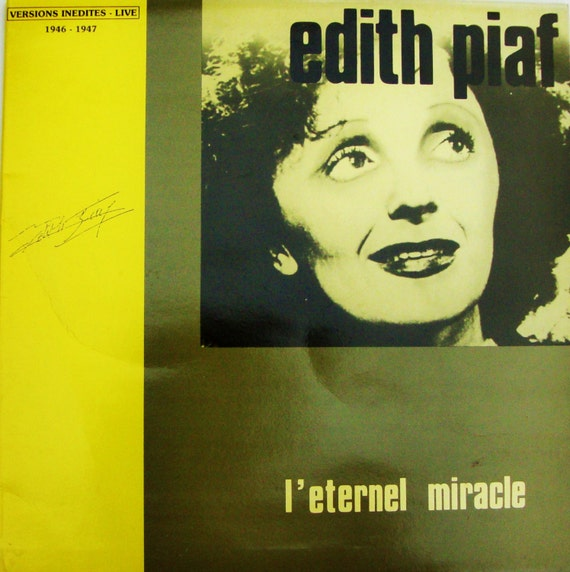 Edith Piaf Vinyl Lp Record Billie Holiday Of France French