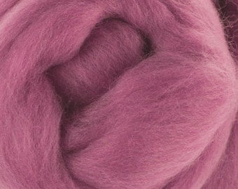 18 Micron Wool Roving - 50 grams (1.75 oz) - Orchid