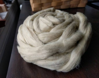 EZ Spin Natural Green Cotton Carded Sliver - 4 ounces