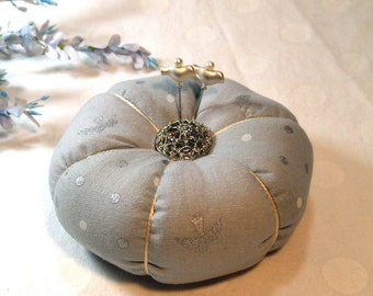 Pincushion, Always a Silver Lining Tomato Pincushion- Ready to Ship