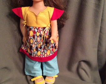 """Darling Tunic and Pants for American Girl and Other 18"""" Dolls"""
