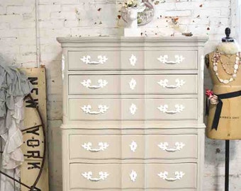 PORTFOLIO Painted Cottage Chic Shabby French Chest CH837