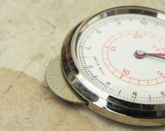 Vintage Keuffel & Esser 25 Feet Map Measure Rolling Ruler Measuring Dial w Box
