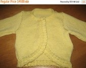 Sweater Yellow Size 1 -2, Child Yellow Sweater,Knit Yellow Sweater Child,Sweater Ready to Ship,Wool-Blend Sweater,Yellow Cardigan Sweater