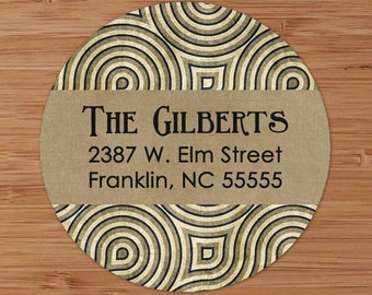 Art Deco II Custom Address Labels or Stickers