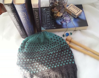 Teal and Charcoal Grey Gradient Hat