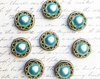 Push Pins - Decorative Push Pins - Office Supplies - Message and Bulletin Boards - Office Accessories - Office Organization - Aqua Push Pins