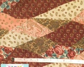Paisley Corduroy Fabric, 3/4 yard