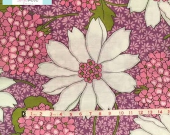 Vintage Large Purple Floral Pillowcase