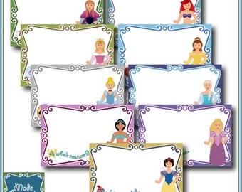 Digital Disney Autograph Pages - Princess Collection