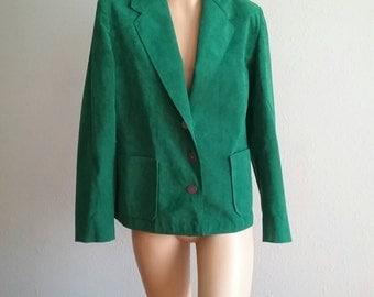 Vintage lilli ann glamorous Forrest green holiday party tuxedo jacket Blazer