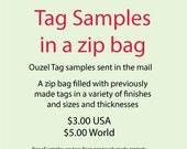 Sample Tags in a zip bag