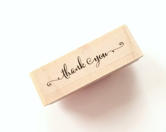 Wedding Thank You Stamps Calligraphy Thank you rubber stamp