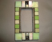 MOSAIC Outlet Cover or Switch Plate, GFI Decora, Wall Art, Wall Plate, Shades of Green