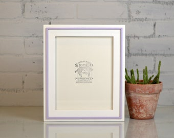 8x10 Picture Frame in Wood Wedge Style and SOLID Color Combination of YOUR CHOICE - Modern 8x10 Photo Frame