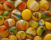 Glass Cabochons - Streaky Yellow 50g