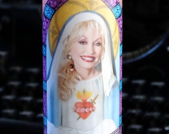Dolly Parton Prayer Candle / Saint Dolly / Butterfly
