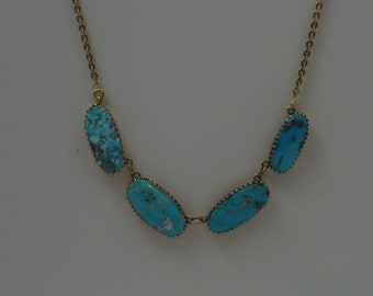 Vintage Persian turquoise necklace