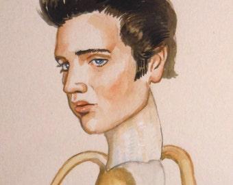 Elvis mini painting