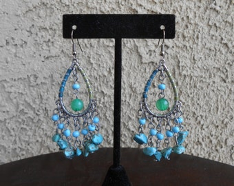 Howlite Chandelier Earrings