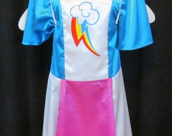 Plus size My Little Pony Equestria Girls Rainbow Dash Cosplay Costume Adult Women's 16 18 20 22 24