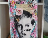Mixed Media Collage TWIGGY
