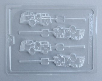 Fire Engine Lollipop Mold, Fire Truck Chocolate Mold, Fire Fighter Birthday Party, Fire Truck Candy Mold