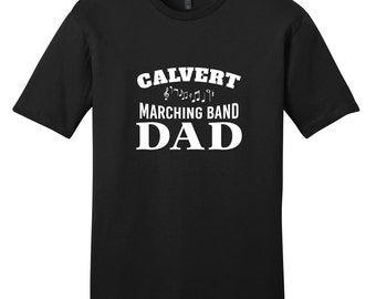 Custom Marching Band Dad - Men's Personalized Sports T-Shirt