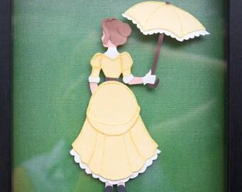 Beautiful Jane Tarzan Disney Princess Inspired Paper Wall Art