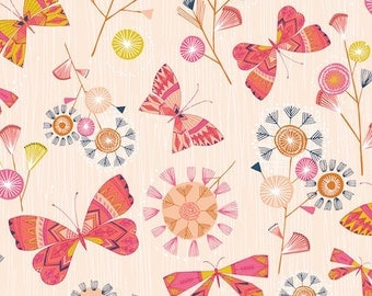Baby Girl Crib Sheets-Fitted-Pink-Butterflies-Modern Floral Garden-Toddler Bedding-Changing Pad Cover or Mini Crib Sheet