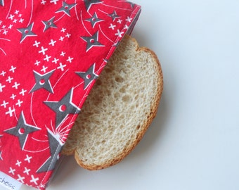 Ninjas Reusable Sandwich Bag/Little Ninjas with Red Sashes Sandwich Bag