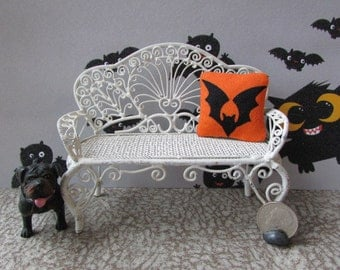 Dollhouse Miniature Bat Pillow