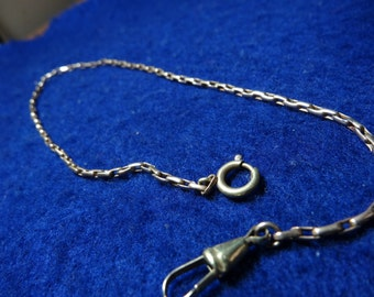 """Nice unsigned 12"""" gold tone pocket watch chain"""
