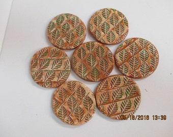 Set of 7 Stoneware Coasters