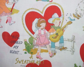 I'm Roping You'll Be Retro Valentines Day Children Alexander Henry Fabric