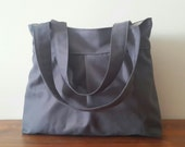 Grey-Everyday Bag-Double Straps