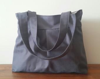 Grey-Everyday Bag-Double Straps