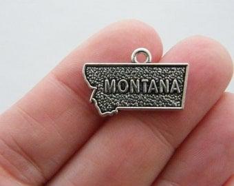 BULK 20 Montana charms antique silver tone WT164