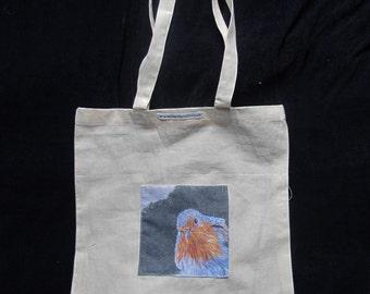 Robin Art Design Pocket Tote Bag