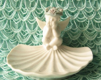 Shabby Chic Nautical Angel Dish