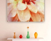 Large Prints/WATERCOLOR DAHLIA fine art print, wall art, home decor, floral art, large format art, photo art, painted photo, flower