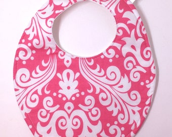 Pink Floral Baby Bib 458033408