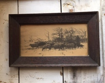 Art|print|antique~In the gloaming