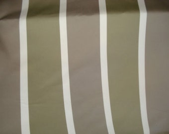 TAUPE Grey White Ribbed Woven STRIPE Upholstery Fabric, 21-29-23-1210