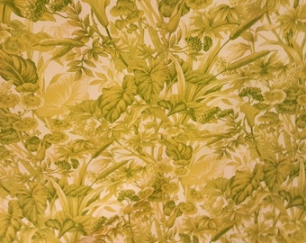 Crisp TROPICAL LIME Green White Leaves Foliage OUTDOOR Upholstery Fabric, 36-47-09-056