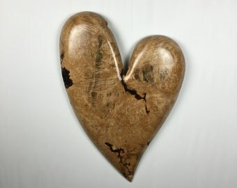 Personalized wood heart wood carving 50th Wedding Anniversary gift Best gift ever wood sculpture happy Birthday gift by Gary Burns
