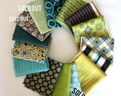 Ansonia from Denyse Schmidt, Mossy Color way FQ bundle, 12 fabrics total