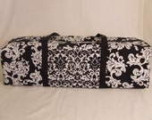 Cricut Explore Air Carrying Bag / Cricut Expressions 2  /  Silhouette Cameo 3/ Brother ScanNCut 2 /  Black and White Damask Fabric print