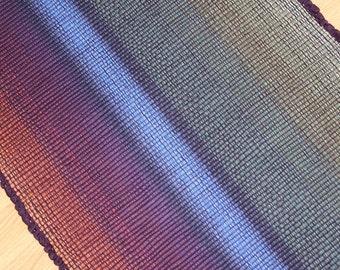 Woven Cotton Rag Rug 2 x 4 in Sage, Blue and Eggplant Machine Washable Rag Rug